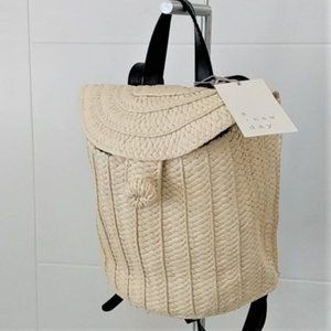 A New Day Straw bag Backpack basket
